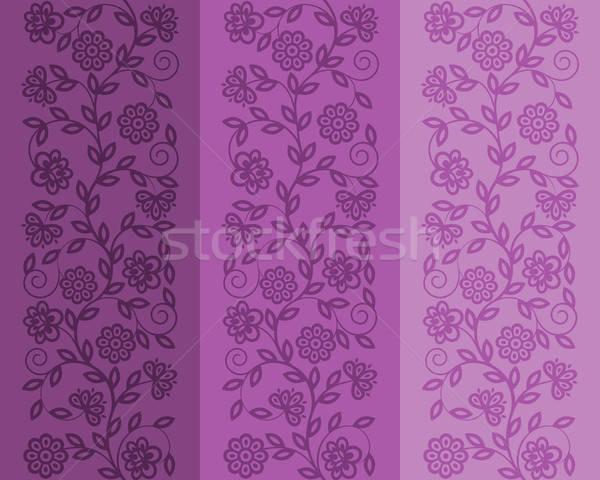бесшовный цветочный шаблон ретро текстуры дизайна Сток-фото © AbsentA