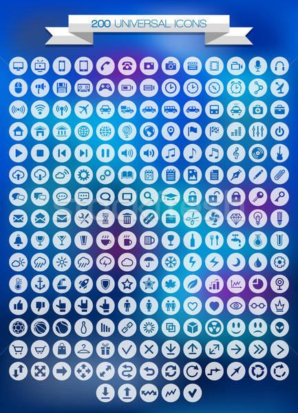 Uniwersalny działalności telefonu Internetu charakter Zdjęcia stock © AbsentA