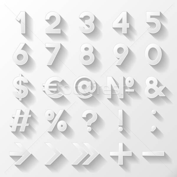 Set decorativo numeri simboli business internet Foto d'archivio © AbsentA