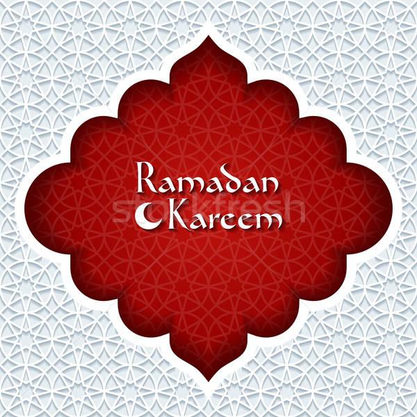 Ramadan wenskaart abstract Rood retro behang Stockfoto © AbsentA