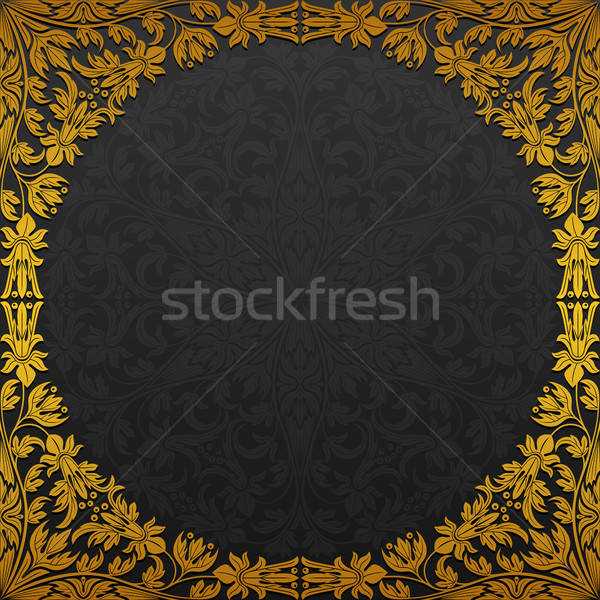 Frame traditioneel ornament bloem abstract Stockfoto © AbsentA