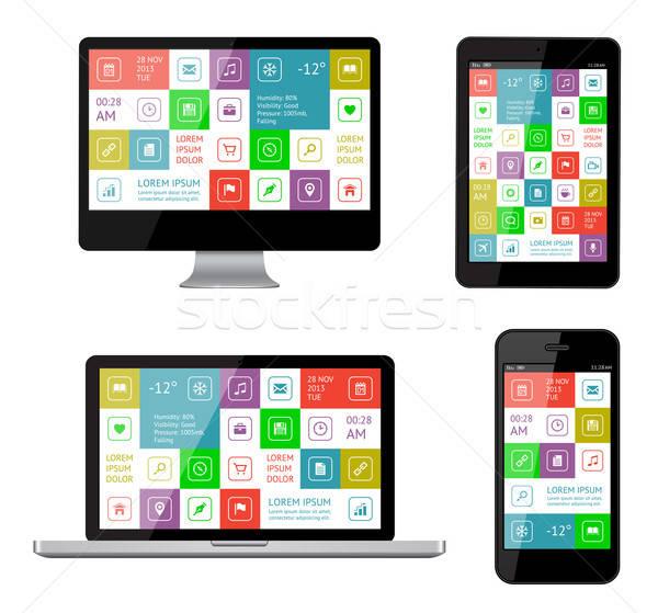 изолированный ui веб Элементы дизайна Сток-фото © AbsentA