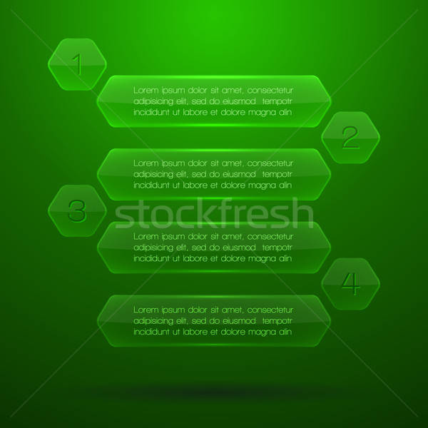 Glass elements of infographics. EPS10 vector illustration. Stock photo © AbsentA