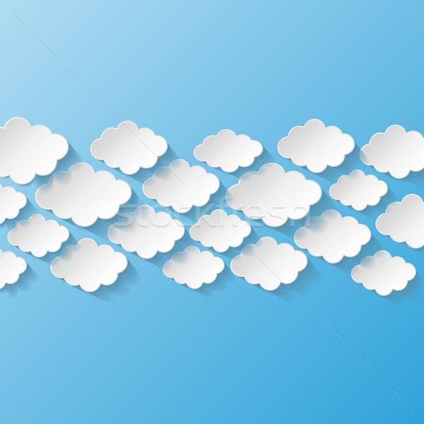 Abstract papier wolken internet natuur ontwerp Stockfoto © AbsentA