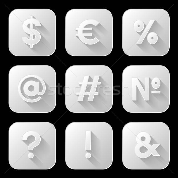 Foto stock: Conjunto · ícones · sinais · símbolos · negócio · tecnologia
