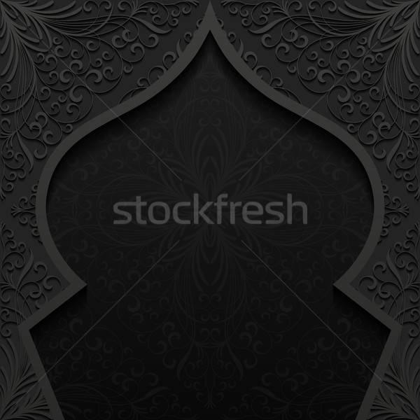 Abstrato tradicional ornamento projeto preto retro Foto stock © AbsentA