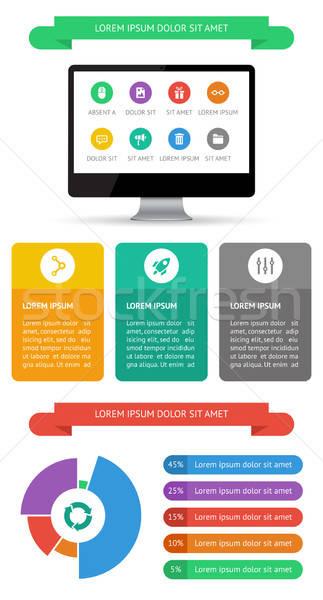 Ui infografía web elementos diseno eps10 Foto stock © AbsentA