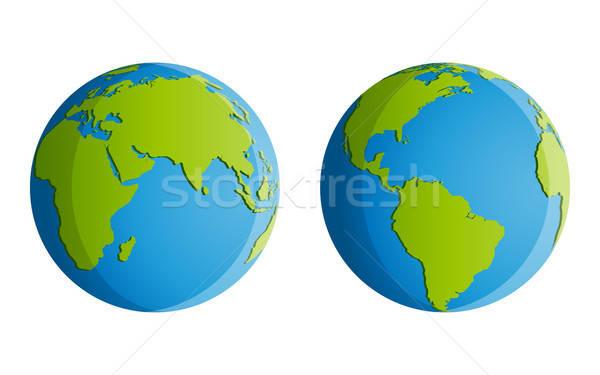 Planète terre isolé ciel carte mer océan Photo stock © AbsentA