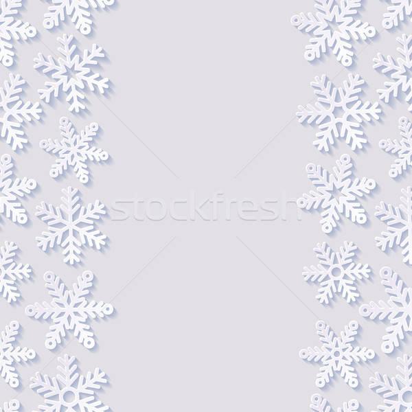 Streszczenie płatki śniegu śniegu tle zimą retro Zdjęcia stock © AbsentA