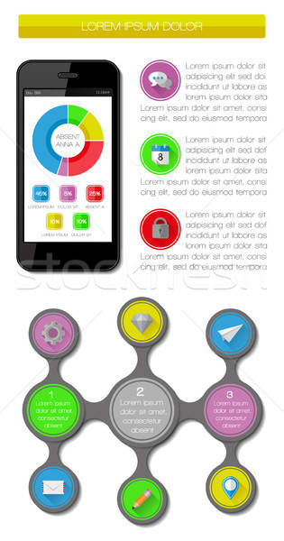 Ui, infographics and web elements Stock photo © AbsentA