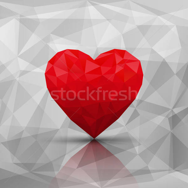 Abstract modern style love background. Vector illustration. Stock photo © AbsentA