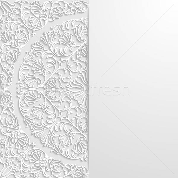 Résumé floral rétro wallpaper usine vintage Photo stock © AbsentA