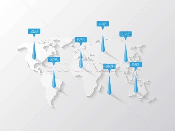 Wereldkaart communie kaart abstract wereld Stockfoto © AbsentA