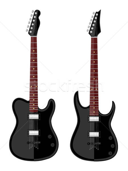 современных электрических гитаре черный ретро белый Сток-фото © AbsentA