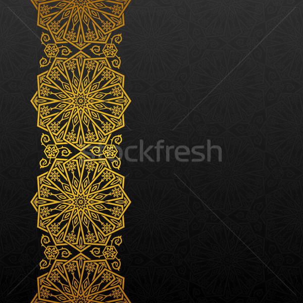аннотация традиционный орнамент черный золото ретро Сток-фото © AbsentA