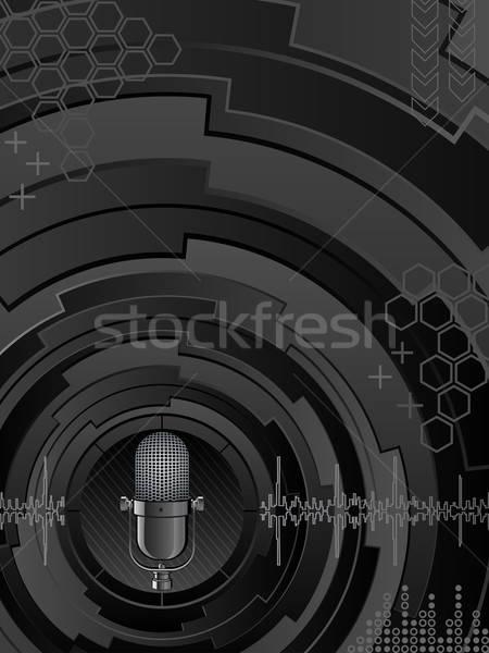 Abstract muziek achtergrond zwarte golf retro Stockfoto © AbsentA