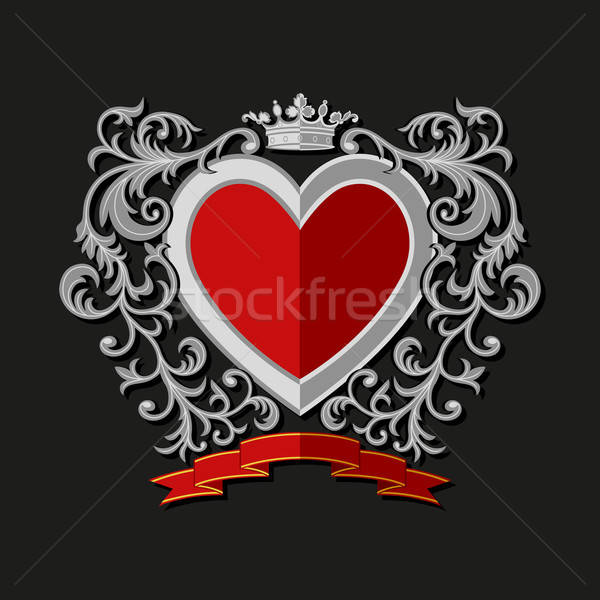 Coat of arms in modern flat style. Vector illustration Stock photo © AbsentA