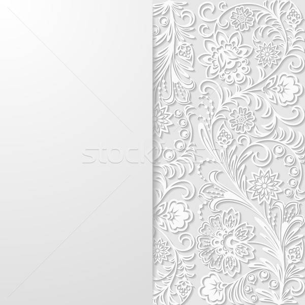 Abstrato floral retro papel de parede planta vintage Foto stock © AbsentA