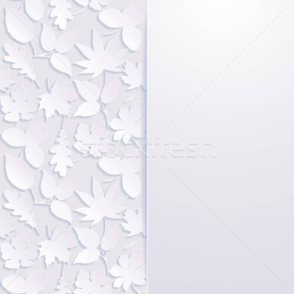 Résumé papier laisse nature feuille été Photo stock © AbsentA