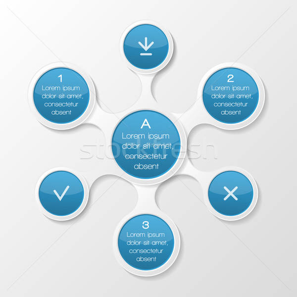 Metaball diagram. Infographic elements Stock photo © AbsentA