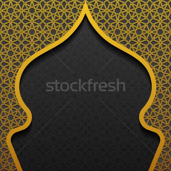 Traditioneel ornament bloem ontwerp zwarte donkere Stockfoto © AbsentA
