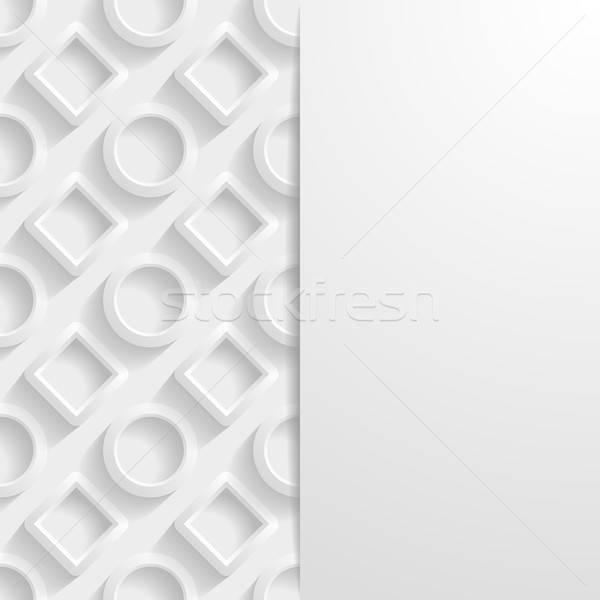 Soyut geometrik kâğıt beyaz gölge plastik Stok fotoğraf © AbsentA