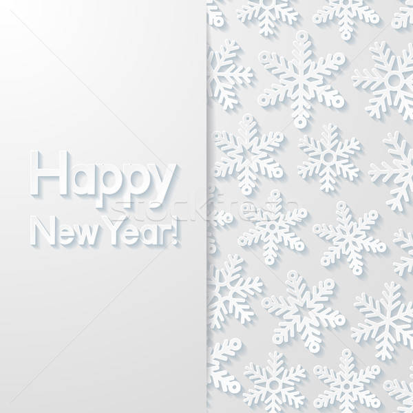 Nouvelle année carte de vœux design art rétro wallpaper Photo stock © AbsentA