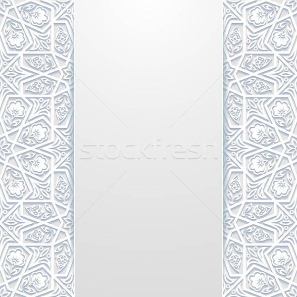 Résumé traditionnel ornement fleur design wallpaper Photo stock © AbsentA