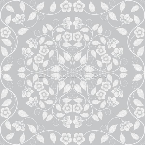 аннотация бесшовный цветочный шаблон ретро лист Сток-фото © AbsentA