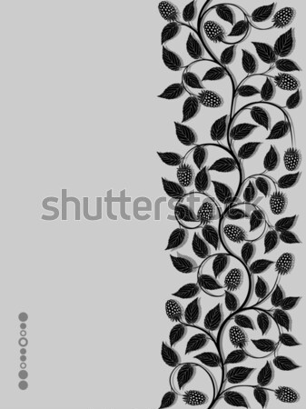 Stock photo: Seamless floral background with a berries. Vector illustration.