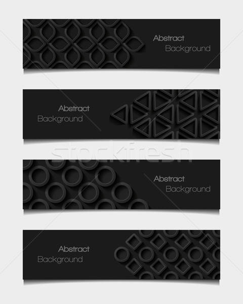 Set of  abstract modern style banners. Vector illustration. Stock photo © AbsentA