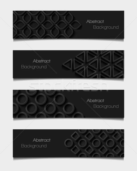 Set abstract stile moderno design sfondo Foto d'archivio © AbsentA