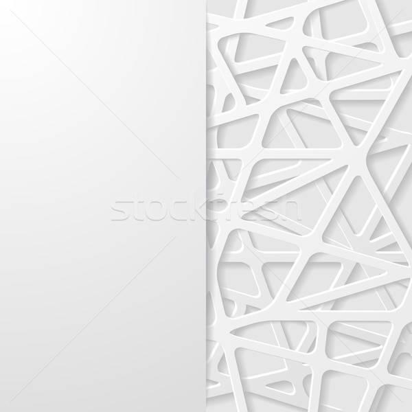 Abstract futuristische papier achtergrond behang witte Stockfoto © AbsentA
