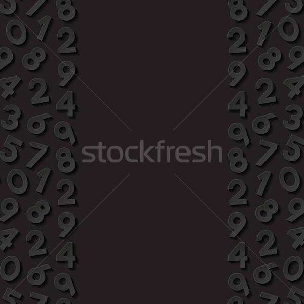 Soyut sayılar kâğıt arka plan siyah duvar kağıdı Stok fotoğraf © AbsentA