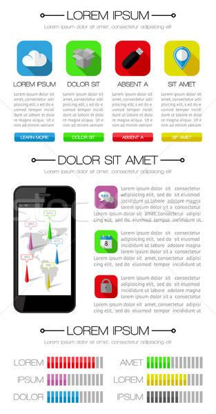 Ui infográficos teia elementos projeto eps10 Foto stock © AbsentA