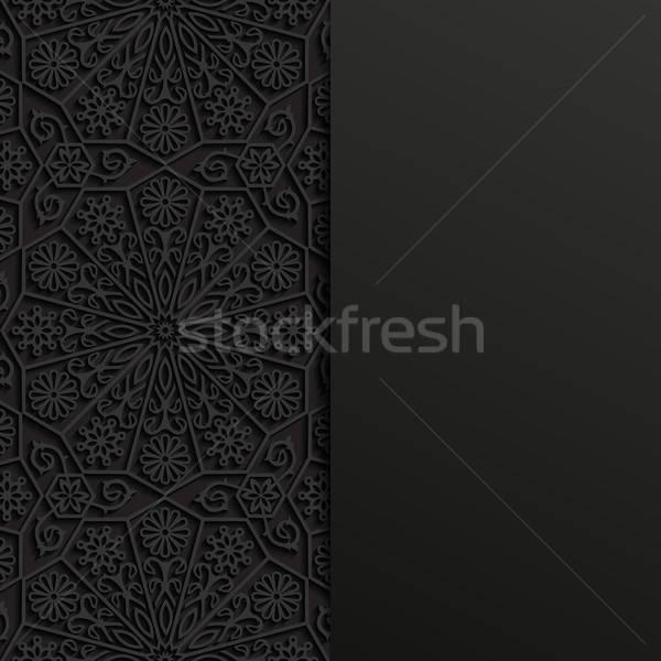 аннотация традиционный орнамент фон черный азиатских Сток-фото © AbsentA
