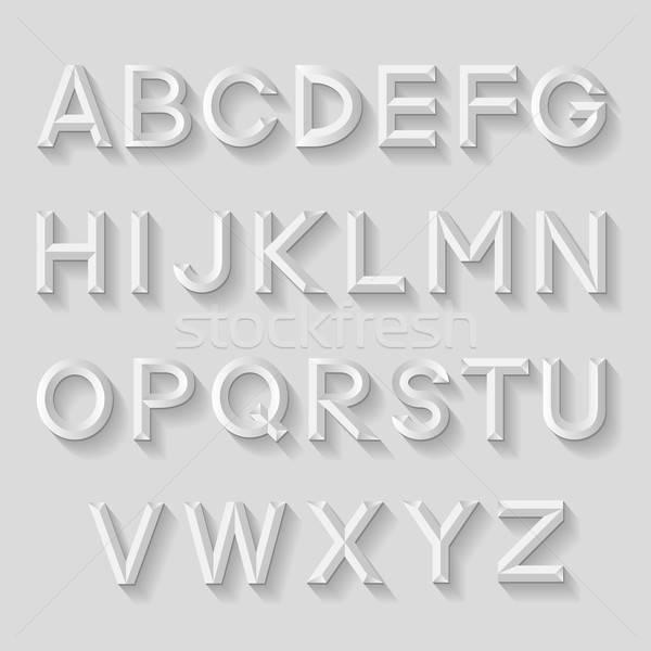 Decorative emboss alphabet Stock photo © AbsentA