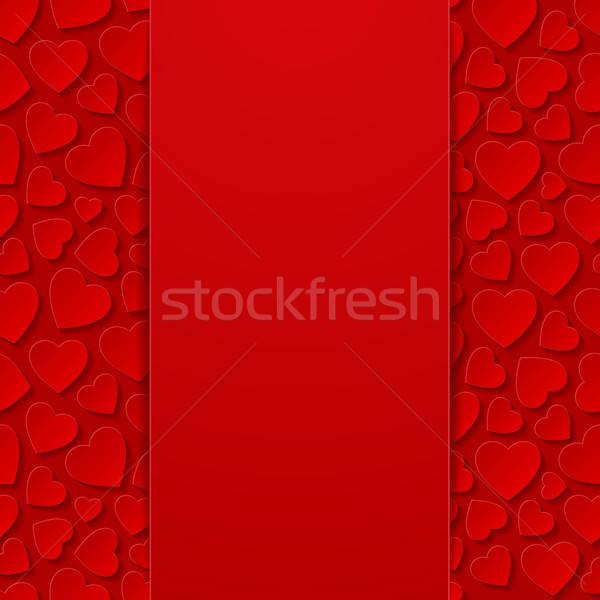 Abstract harten bruiloft achtergrond Rood retro Stockfoto © AbsentA
