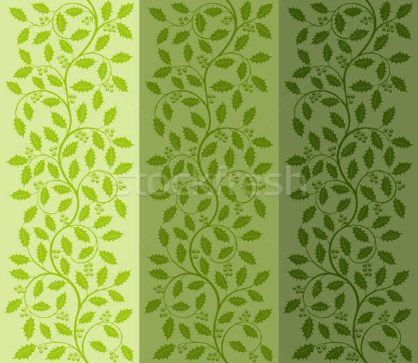 ストックフォト: フローラル · パターン · 装飾的な · テクスチャ · 葉 · 背景