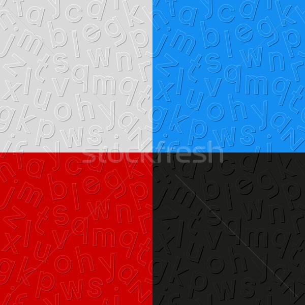 Ingesteld alfabet papier ontwerp teken Stockfoto © AbsentA
