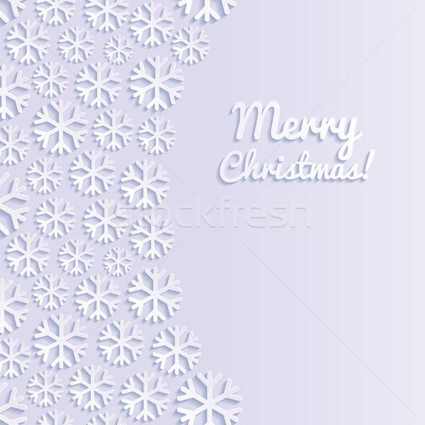 Streszczenie płatki śniegu śniegu tle retro tapety Zdjęcia stock © AbsentA