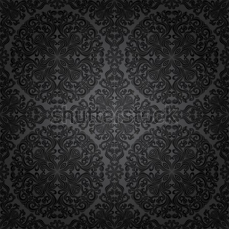 Naadloos patroon bloem blad achtergrond Stockfoto © AbsentA