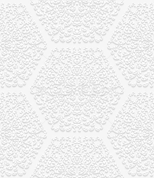 бесшовный цветочный шаблон традиционный стиль бумаги Сток-фото © AbsentA