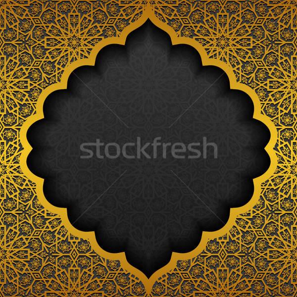 Geleneksel süs dizayn siyah altın Stok fotoğraf © AbsentA