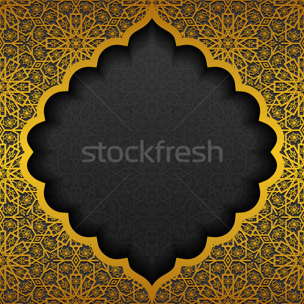 Traditioneel ornament ontwerp zwarte goud Stockfoto © AbsentA