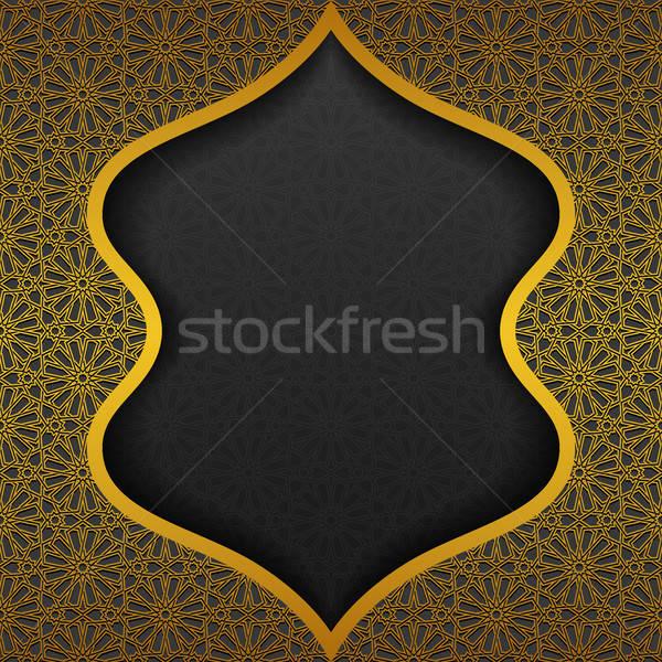 Traditioneel ornament ontwerp zwarte retro asian Stockfoto © AbsentA