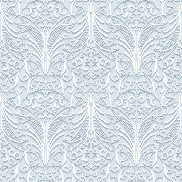 Stockfoto: Naadloos · patroon · achtergrond · behang · witte
