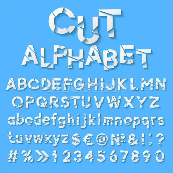 Carta alfabeto taglio lettere design questione Foto d'archivio © AbsentA