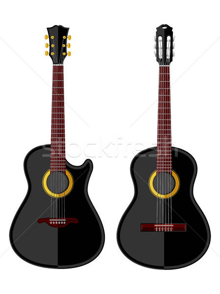 Vintage acústico música guitarra rock negro Foto stock © AbsentA