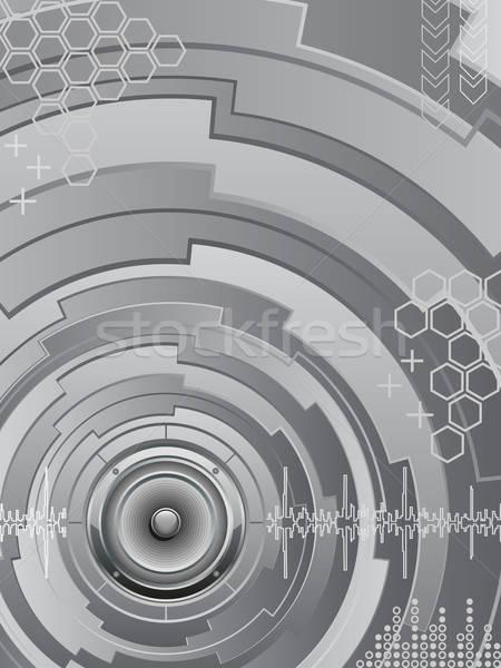 Abstract muziek futuristische achtergrond golf retro Stockfoto © AbsentA